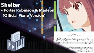 Shelter - Porter Robinson & Madeon [Piano/Strings Tutorial] (Synthesia) // Pianobin