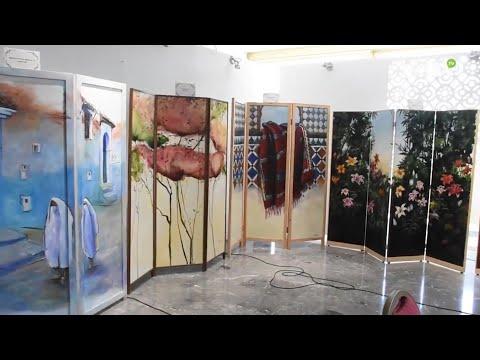 Video : Des paravents aux multiples couleurs et thématiques s'exhibent au public R'bati