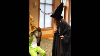Sorting Hat Harry Potter party Paw Paw Library