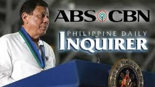 PRRD to ABS-CBN, Inquirer: 'Hindi talaga ako papayag na babuyin ninyo ang Pilipinas'