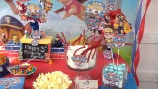 Paw patrol theme birthday party ideas