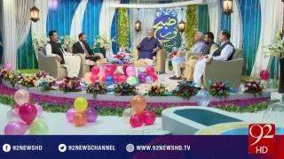 Subh e Noor -06-07-2016 - 92NewsHD