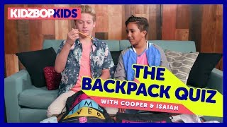 The Backpack Quiz with Cooper & Isaiah from The KIDZ BOP Kids