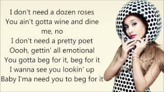 Nicki Minaj ft. Ariana Grande ~ Get On Your Knees ~ Lyrics