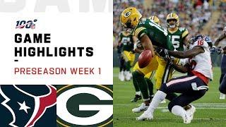 Texans vs. Packers Preseason Week 1 Highlights   NFL 2019