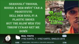 VYBZ KARTEL - REAL YOUTH LYRICSᴴᴰ 2016