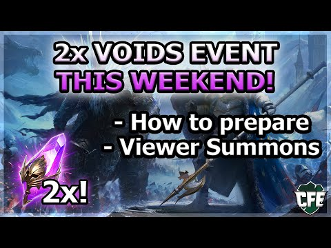 RAID Shadow Legends | 2x VOIDS EVENT | HOW TO PREPARE | VIEWER SUMMONS
