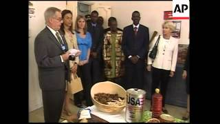 US First Lady Laura Bush visits Senegal