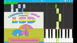LSD - Thunderclouds PIANO EASY ft. Sia, Diplo, Labrinth (Piano Cover) EASIEST