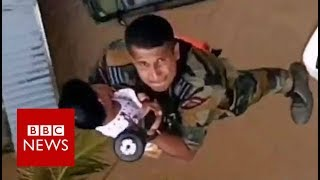 India floods: Amazing rescue video from Kerala - BBC News width=
