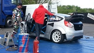 KEN BLOCK | Global Rally X Fiesta Testing | Teesside Autodrome
