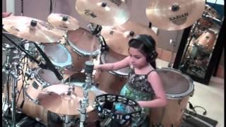 Menina de apenas 11 anos talento por tocar bateria  studiojfs&sudestfm br  (jfs)