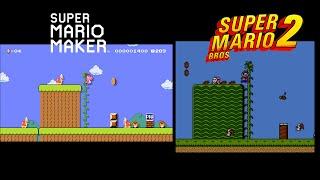 Mario Maker Event Course Comparison (Super Mario Bros. 2)
