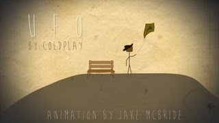 "Coldplay - ""U.F.O"" w/ Lyrics animation by Jake McBride"