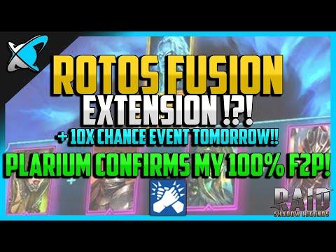 RAID: Shadow Legends | ROTOS FUSION EXTENSION !? | Plarium Confirms My 100% F2P !