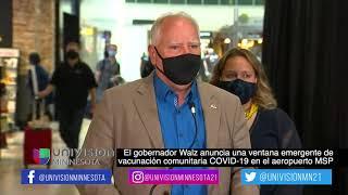 Gobernador Walz anuncia una ventana emergente de vacunación comunitaria COVID19 en el aeropuerto MSP