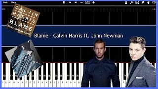 Blame - Calvin Harris ft. John Newman (Synthesia) [Tutorial] [Instrumental Video] [Download]