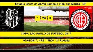 COPA SÃO PAULO DE FUTEBOL 2017 PONTE PRETA-SP 7 X 0 ATLÉTICO ALAGOINHAS-BA