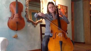 Allemanda, Suite I, Bach - Cello R.BERGONZI - Gemma Pedrini