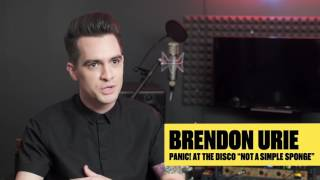 """""""Not a simple sponge"""" by Brendon Urie from Panic! At The Disco"""