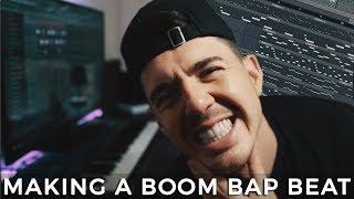 MAKING A BOOM BAP BEAT! Making a 90s Hip hop beat from scratch | Making a Beat [EP #30] - Kyle Beats width=