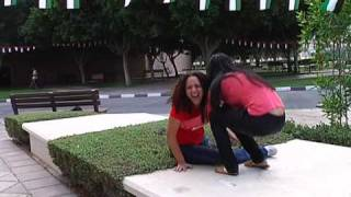 Jenny takes a tumble