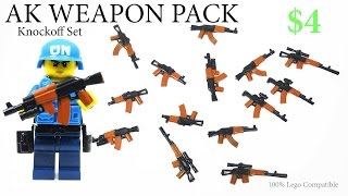 Lego AK47 Weapons Brickarms Unboxing Kids Toy Gun Set -  Knockoff Review  Великая отечественная