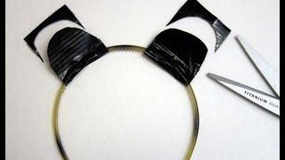 Duct Tape Tutorial: Animal Ears Headband - Panda Halloween Costume