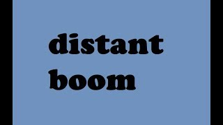 distant boom sound effect free download