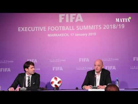 Video : Gianni Infantino dresse un bilan positif du Sommets exécutifs du football de la Fifa