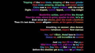 MF DOOM - Meat Grinder - Rhymes Highlighted