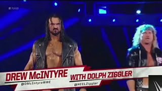 Drew McIntyre Entrance with Dolph Ziggler at Raw