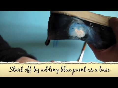 DIY how to make Galaxy shoes!!