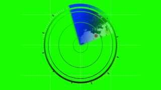 RADAR + sound fx  in green screen free stock footage