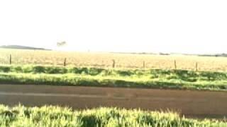 Avião passando veneno em mandiocal V. Formosa