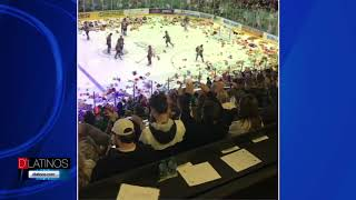 Miles de Peluches lanzados en el Hertz Arena