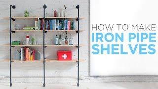 How to make iron pipe shelves