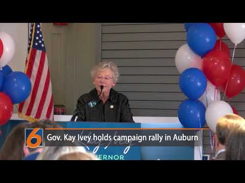 Gov. Kay Ivey holds campaign rally in Auburn