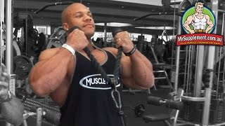 Phil Heath's Cable Hammer   Bicep Exercise #3