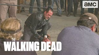 (SPOILERS) 'Negan Vs Simon' Behind the Scenes Ep. 815 | The Walking Dead