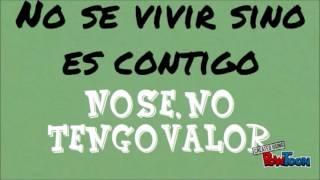 NO VIVIR SI NO ES CONTIGO FABIOLA ROUDHA LETRA
