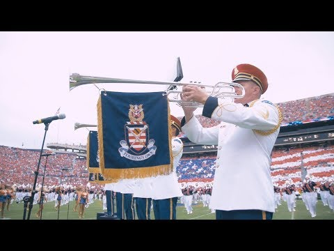 During the Ole Miss game, the Auburn University Marching Band and the U.S. Army Herald Trumpets, who have played for both the President and the Olympics, performed a special halftime show to celebrate Military Appreciation Day. Check out this short video showing their preparation and halftime show.