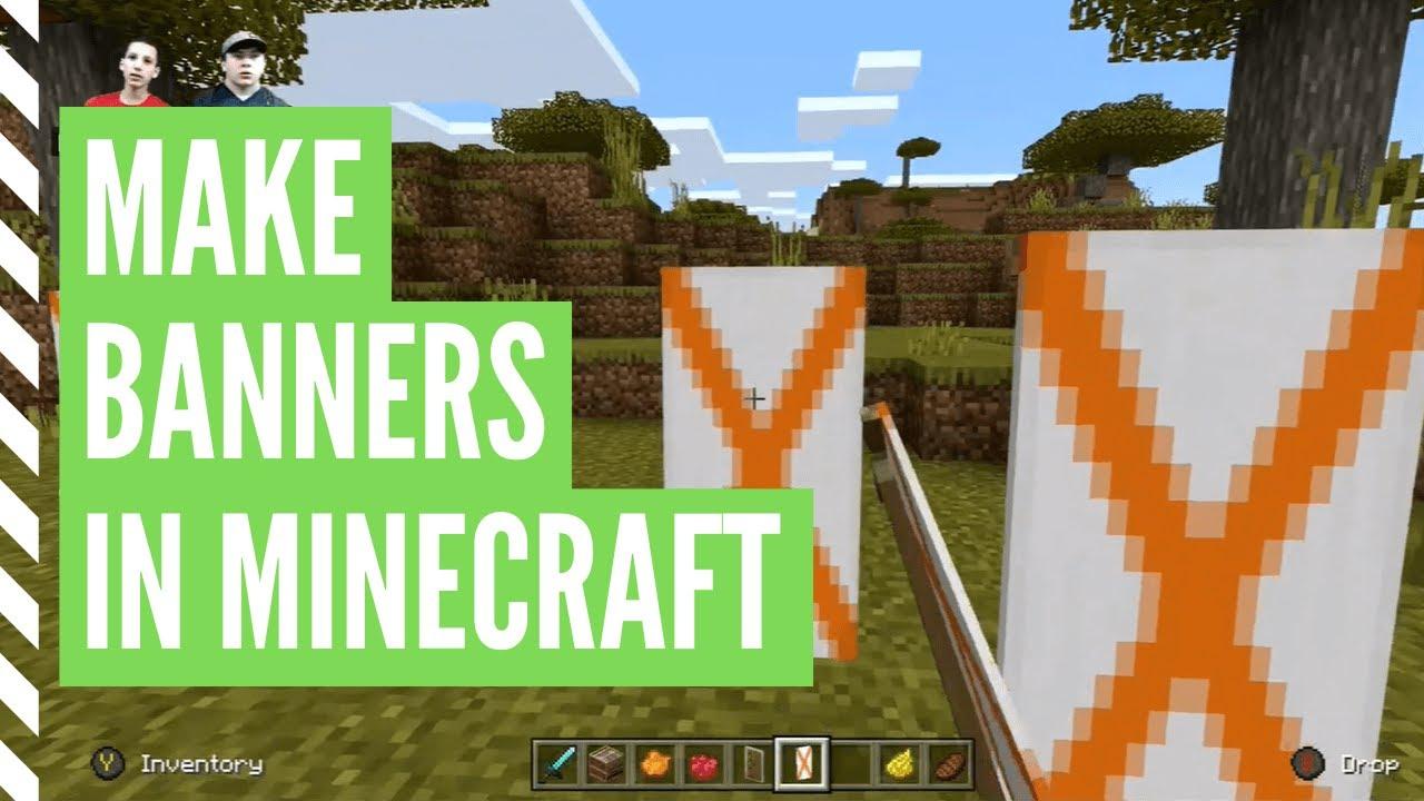 How To Make A Banner In Minecraft Minecraft Banner Tutorial