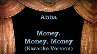 Abba - Money Money Money Lyrics (Karaoke Version)