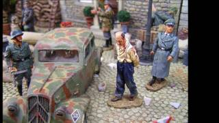 Military Miniatures - German Occupied France 1944 Video, toy soldiers