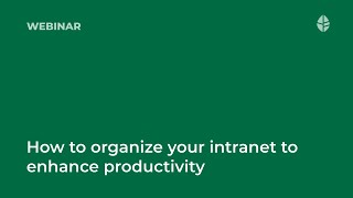 How to organize your intranet content to enhance productivity Logo