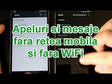 Apeluri si mesaje gratuite, fără rețea mobila sau wifi