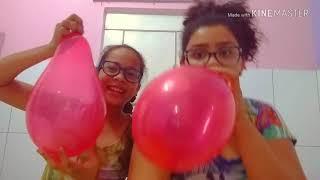 Desafio da bexiga (Emily e Sthefany)