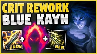 NEW CRIT REWORK + BLUE KAYN = HUGE ONE-SHOTS! THIS KAYN BUILD IS CRAZY! - League of Legends