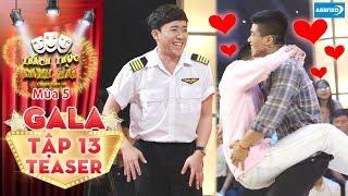 Thách thức danh hài 5|Teaser tập 13(GALA): Trấn Thành nổi da gà trước chuyện tình của cặp đôi đam mỹ